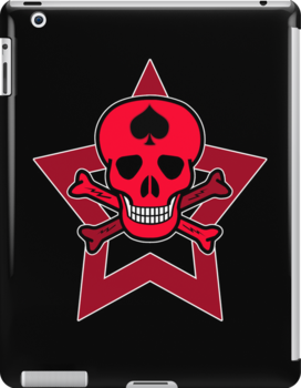 Red Punk Skull by RubyFox
