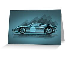 Ford GT40 blue - Digital Painting Greeting Card
