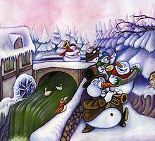 The merry snowmen on parade by Stijn Van Elst