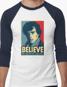 Believe in Sherlock Holmes Men's Baseball ¾ T-Shirt