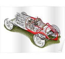 Alfa Romeo P3 - Cutaway Poster