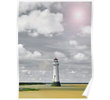 Lens Flare Lighthouse Poster