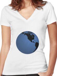 globe Women's Fitted V-Neck T-Shirt
