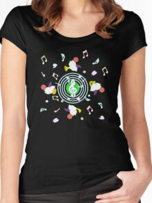 Music Moogle (Black&Green) Women's Fitted Scoop T-Shirt