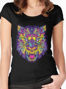 Rainbow Tiger Women's Fitted Scoop T-Shirt