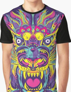 Rainbow Tiger Graphic T-Shirt