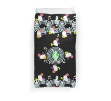 Music Moogle (Black&Green) Duvet Cover