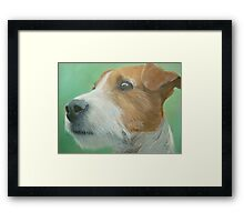 House trained Framed Print