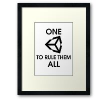 One Unity to rule them all (Black) Framed Print