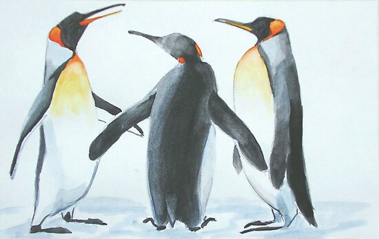 Penguins by Carole Russell