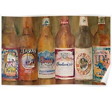Fat Tire, Alaskan, Coors Light, Budweiser, Mirror Pond, IPA Poster