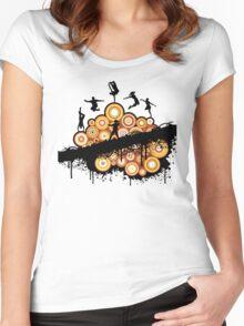dance scene Women's Fitted Scoop T-Shirt