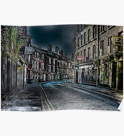 Evening in Low Petergate Poster