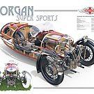 Morgan - Cutaway Poster by David Jones