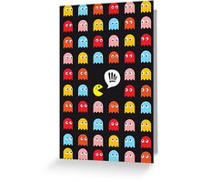 Pac-Man Trapped Greeting Card
