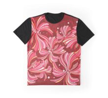 Flowers, Petals, Blossoms - Red Graphic T-Shirt