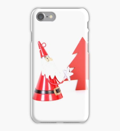 Santa and Christmas tree iPhone Case/Skin