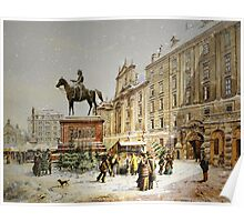 Austrian Christmas Market Poster