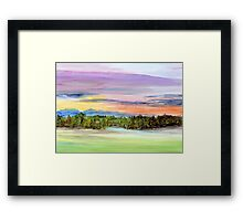 A Beckoning Call to the Edge Framed Print
