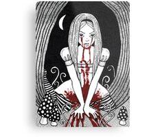Blood Red Alice Tee Metal Print