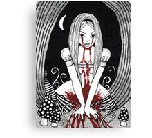 Blood Red Alice Tee Canvas Print
