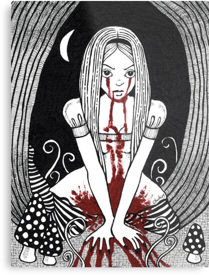 Blood Red Alice Tee by Anita Inverarity