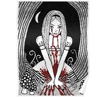Blood Red Alice Tee Poster