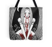 Blood Red Alice Tee Tote Bag