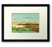 A Quiet Stretch of Coastal Solitude Framed Print