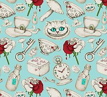 Wear to Wonderland – Stone on Aqua by micklyn