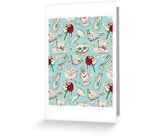 Wear to Wonderland – Stone on Aqua Greeting Card
