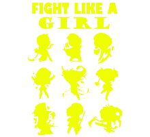 League of Legends Fight Like A Girl Yellow Photographic Print