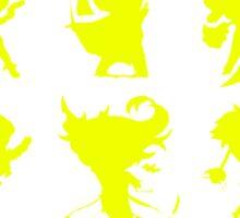League of Legends Fight Like A Girl Yellow Sticker