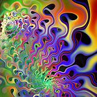 Psychedelic Waves Digital Art by David Alexander Elder
