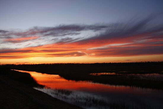 Stacy, North Carolina Sunset by BigD