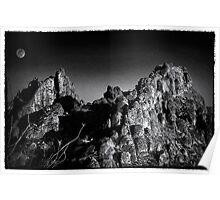 Moonrise near Terlingua, TX Poster