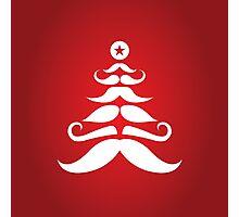 Santa's Mustache Christmas Tree Photographic Print