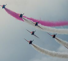 Red Arrows at Cosford by Cliff Williams