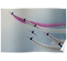 Red Arrows at Cosford Poster