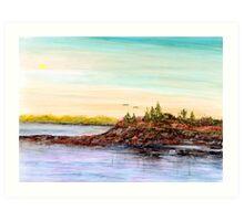 Rocky Shoals of Penobscot Bay Art Print