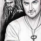 Richard Armitage staring as Thorin Oakenshield by jos2507