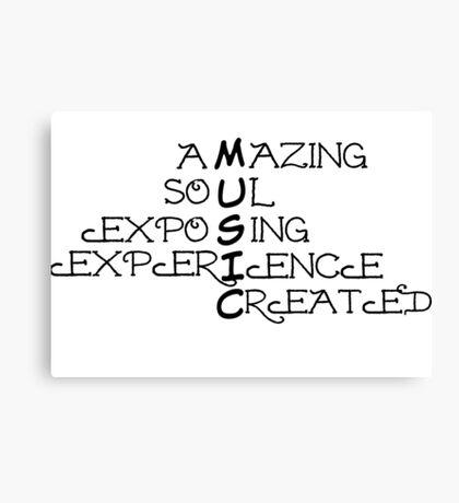 Music - Typographical Design Canvas Print