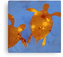 Abstract Sea Turtle #2 Canvas Print