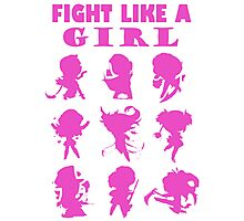 League of Legends Fight Like A Girl Pink Photographic Print
