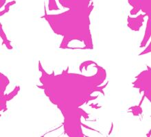 League of Legends Fight Like A Girl Pink Sticker