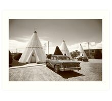 Route 66 Wigwam Motel Art Print