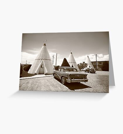 Route 66 Wigwam Motel Greeting Card