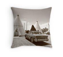 Route 66 Wigwam Motel Throw Pillow