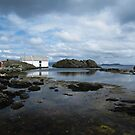 Seaside view with a cloudy sky by flips99