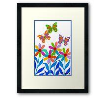 DREAMLAND FLOWERS Framed Print
